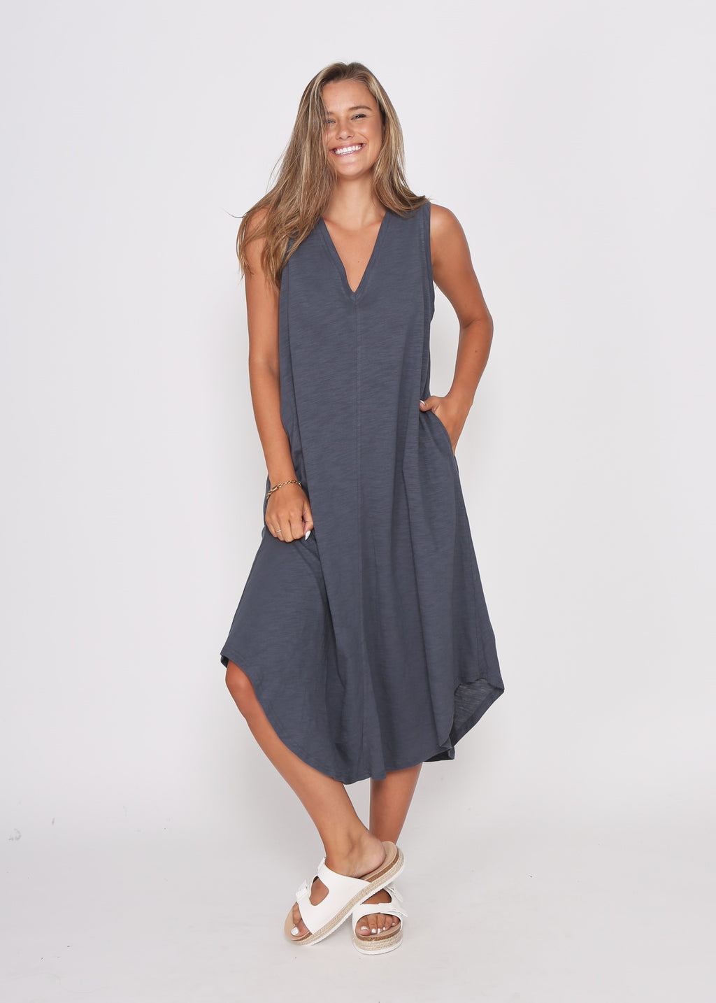 NEW - BEL DRESS - GUN METAL