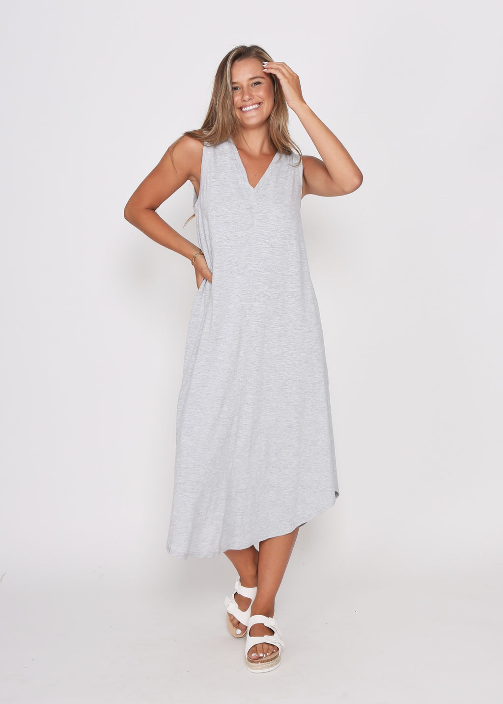 NEW - BEL DRESS - GREY MARL