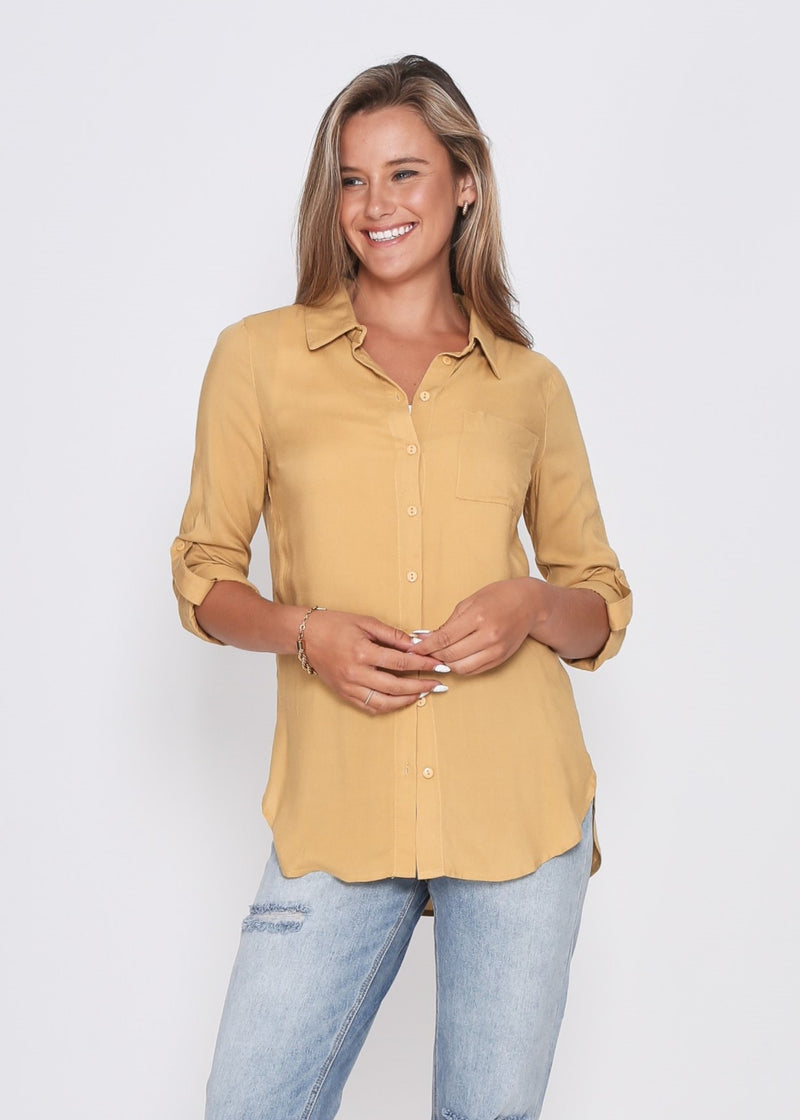 BROOKE SHIRT - MUSTARD