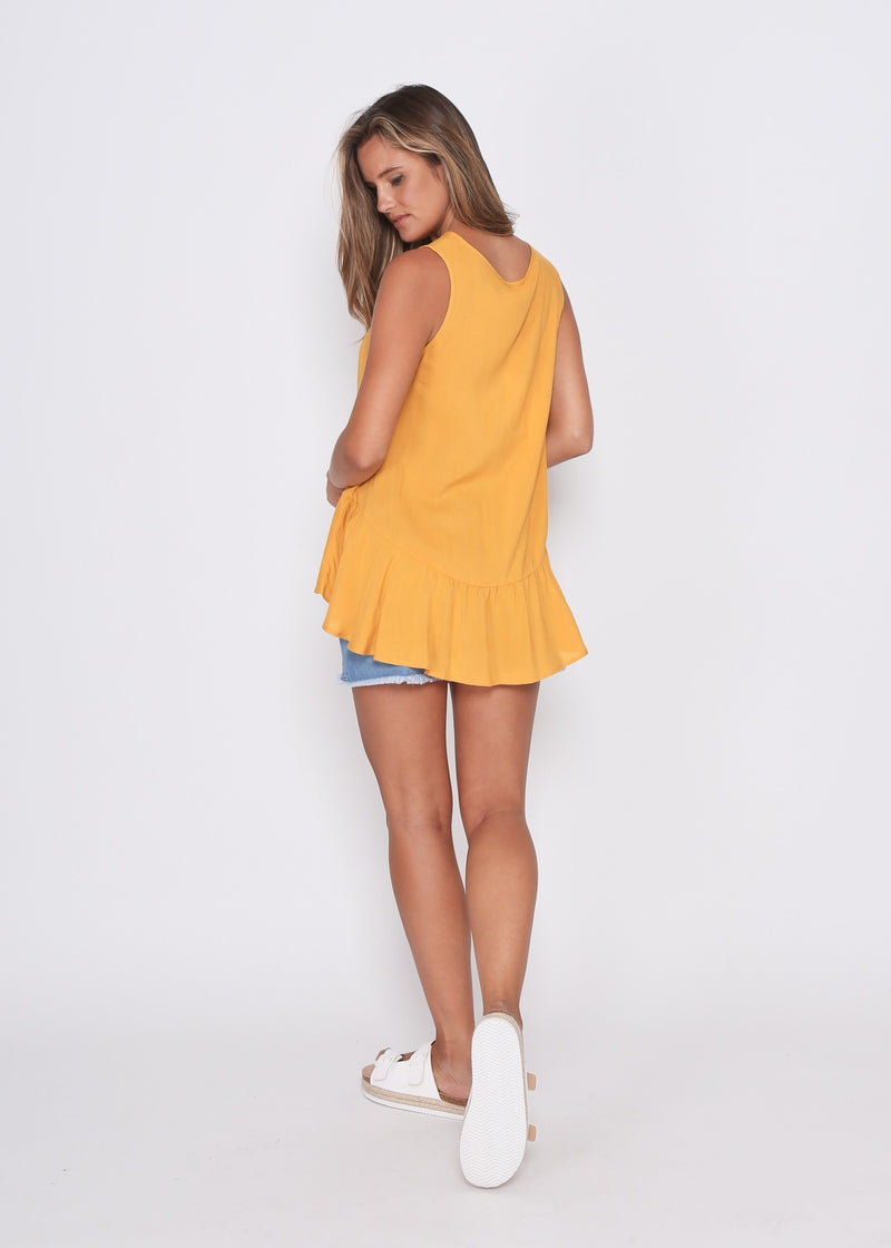 NEW - LARA TOP - MUSTARD