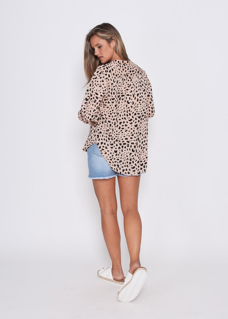 COCO SHIRT - PEACH CHEETAH