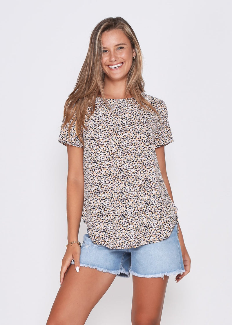 NEW - CARTER TOP - PINK FLORAL