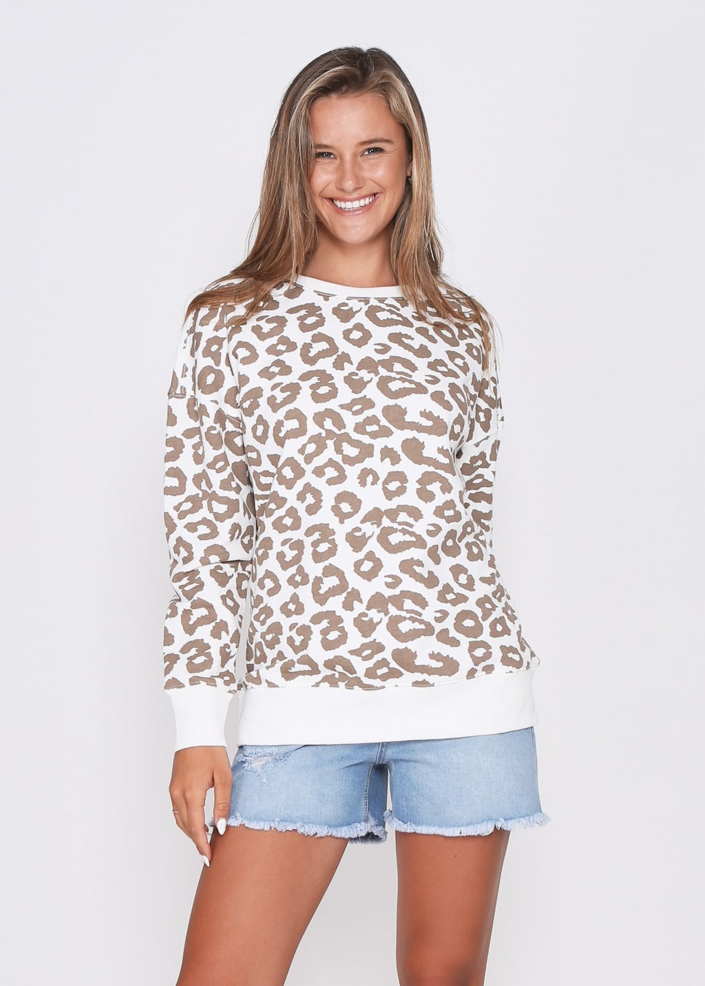 ALICIA SWEATER - NUDE LEOPARD