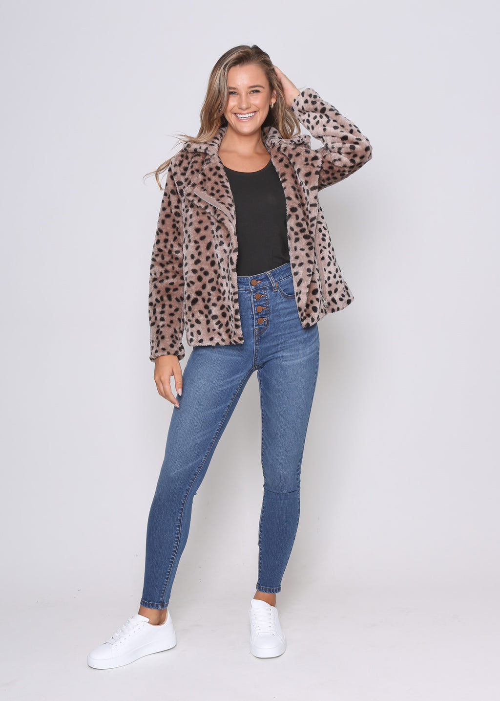 MONICA JACKET - MOCHA CHEETAH