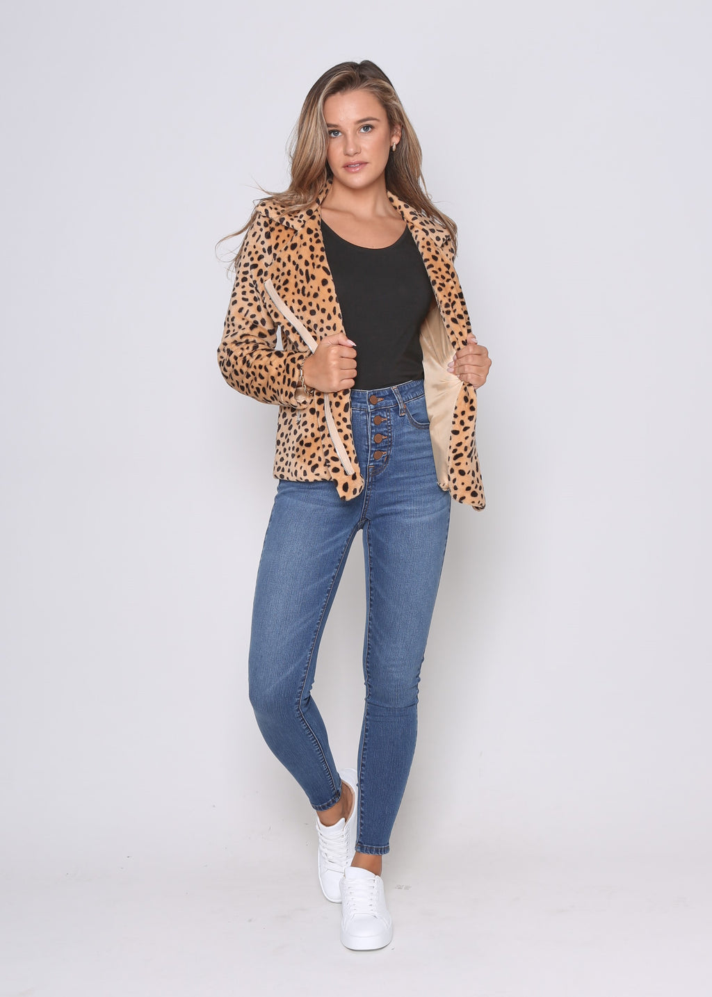 MONICA JACKET - CAMEL CHEETAH