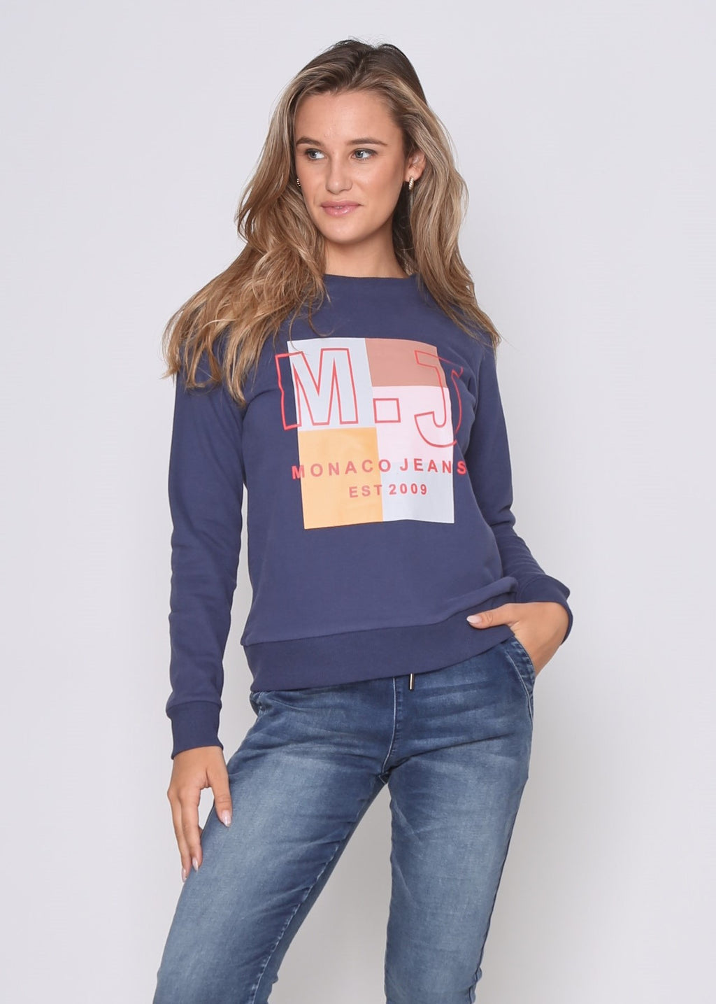 MJ LUXE SWEATER - STEELE