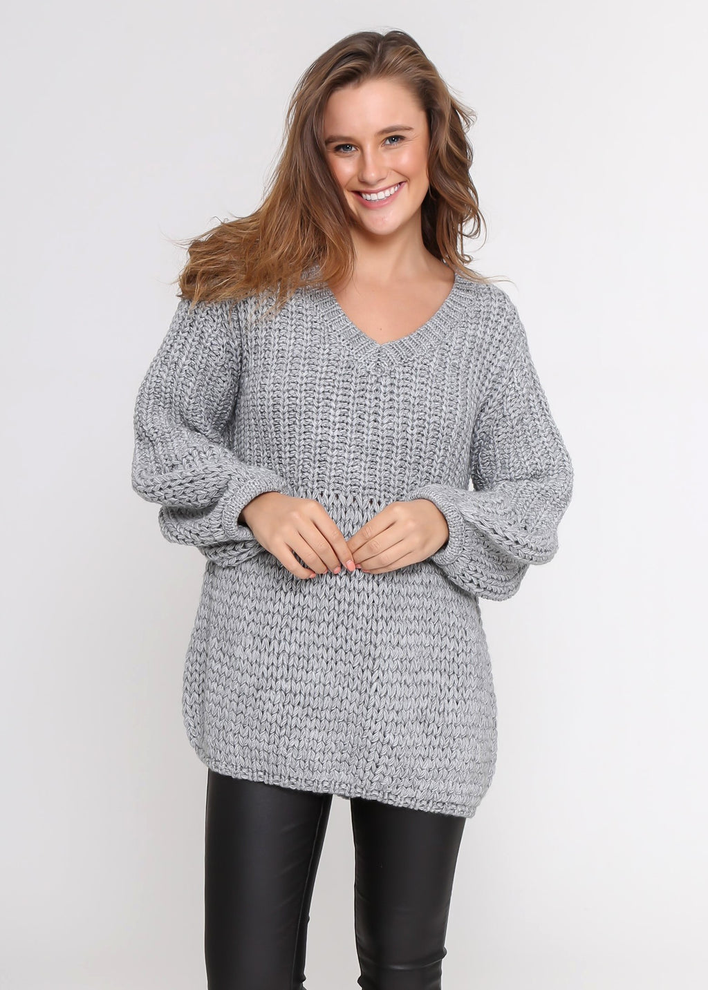 JUST IN - MORGAN KNIT - GREY