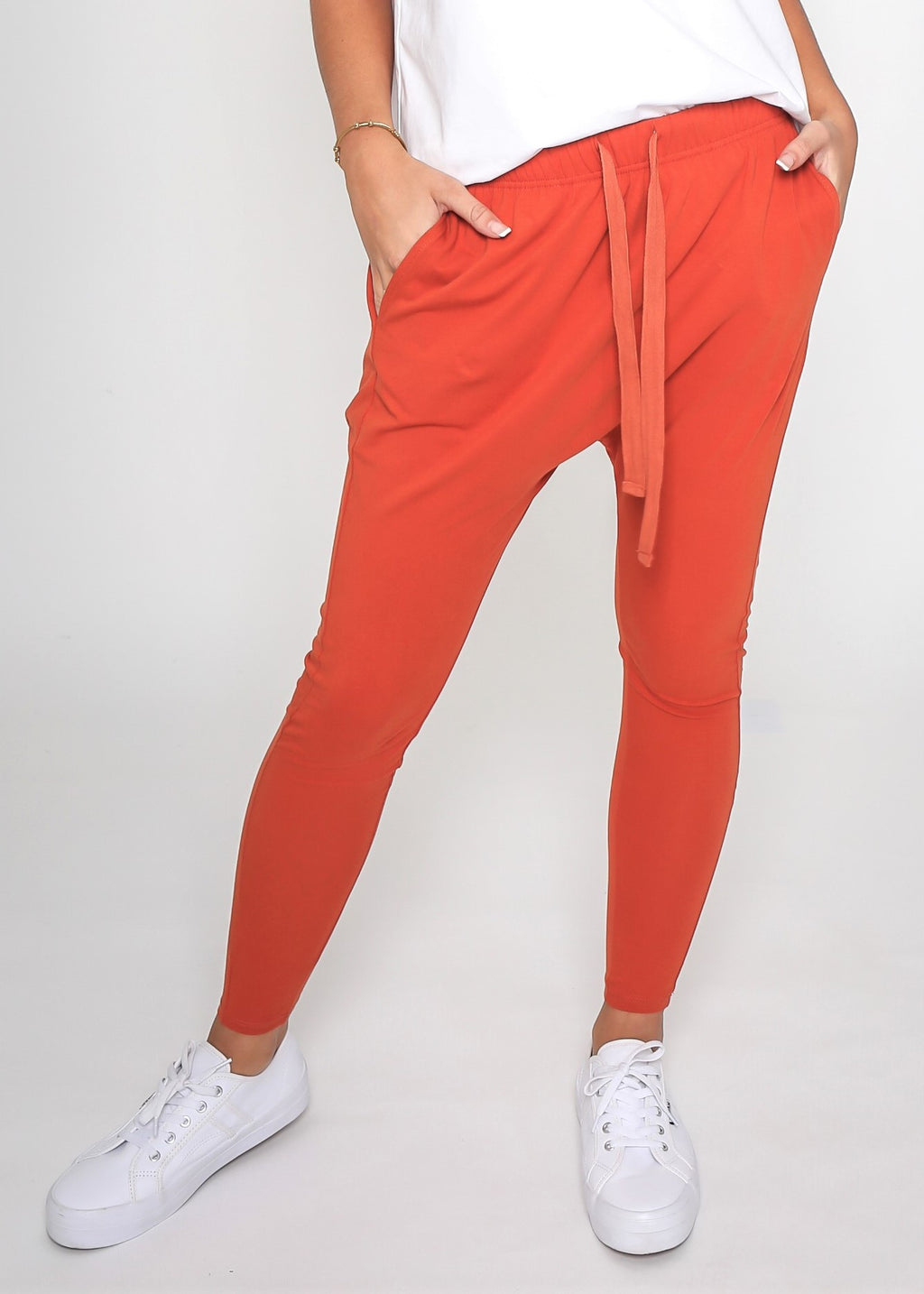 KIERA DROP CROTCH JOGGER - FIRE RUST - MARK DOWN MADNESS