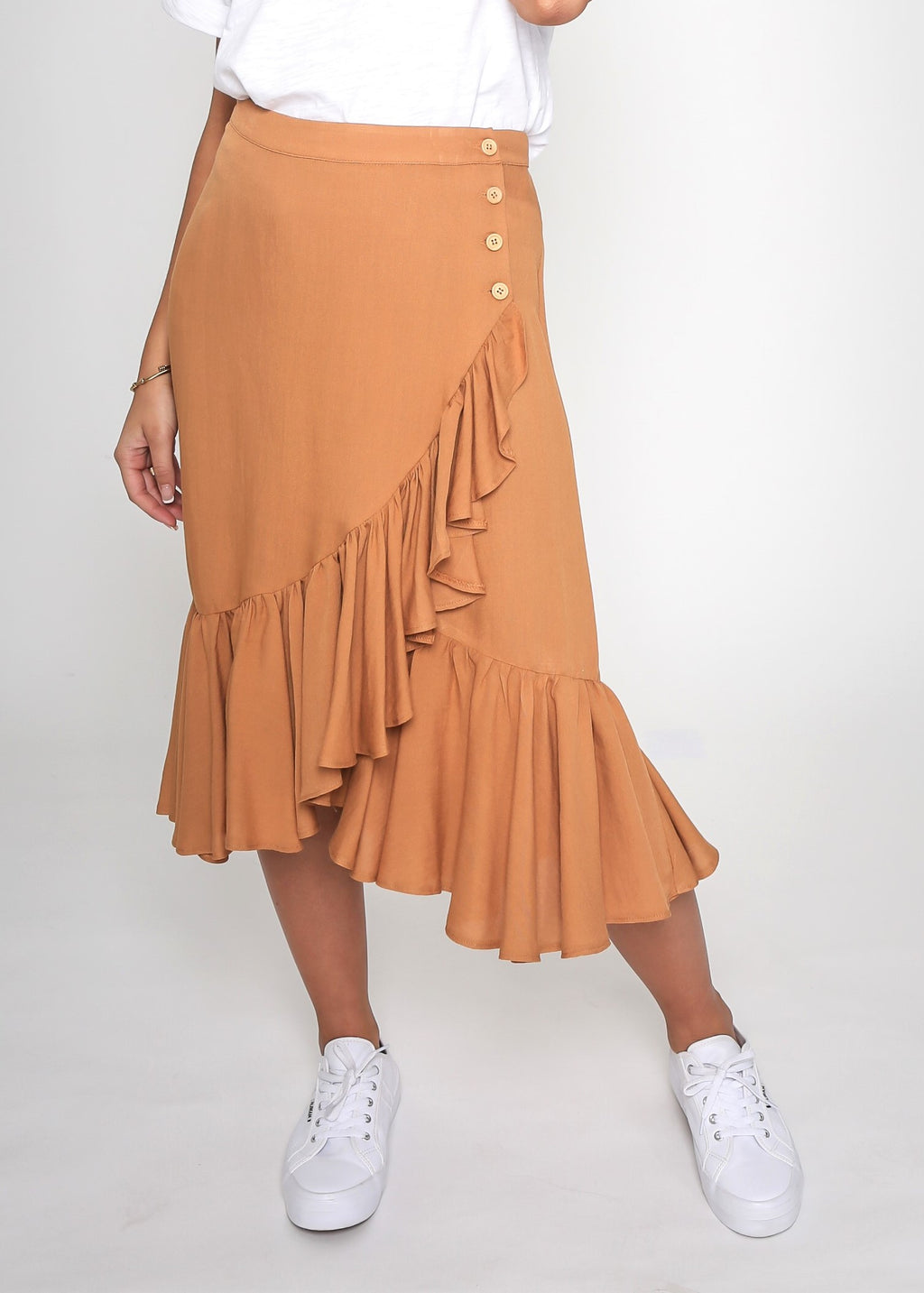 SHELLY SKIRT - MUSTARD