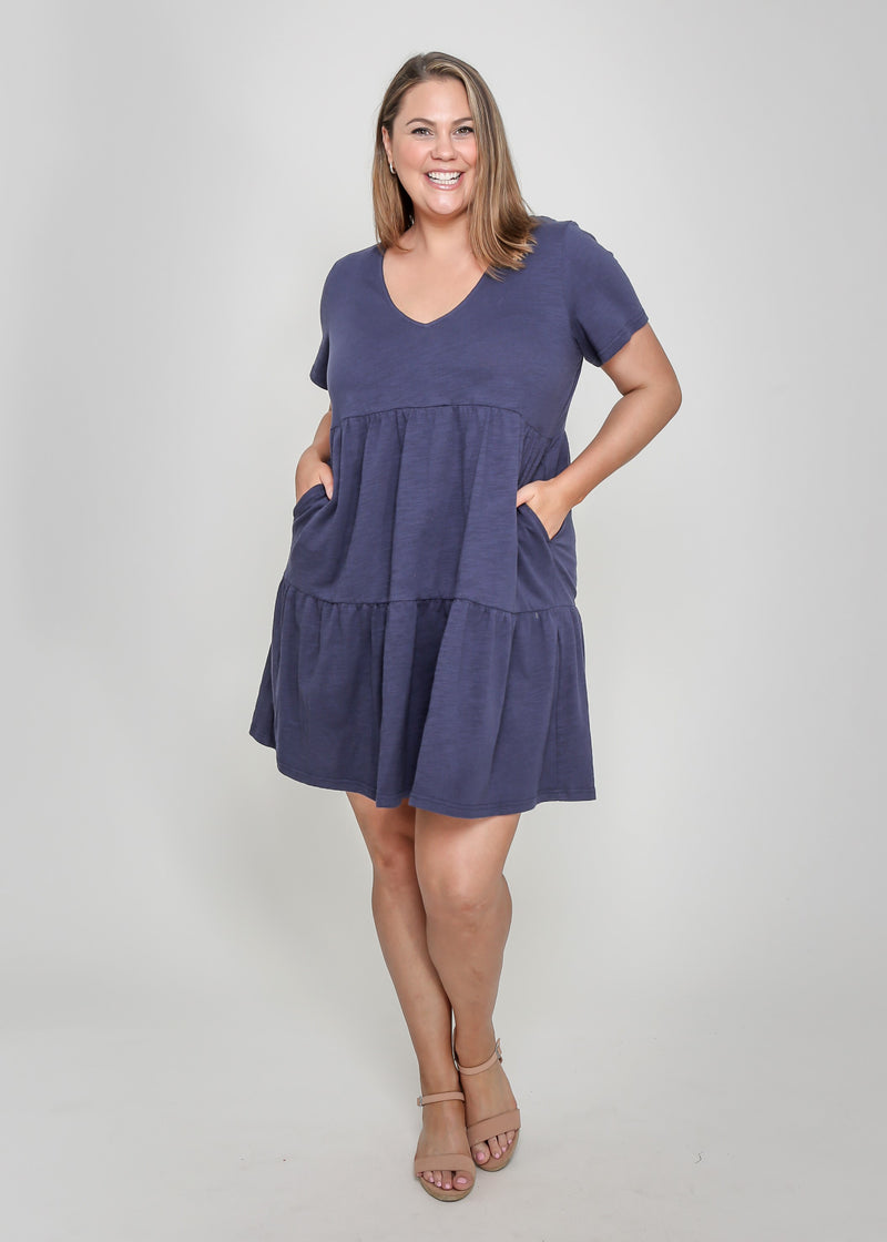 JAY DRESS - NAVY