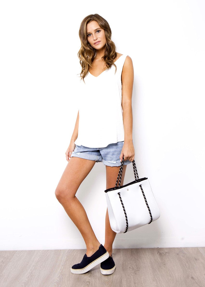 AVA MINI NEOPRENE BAG - WHITE