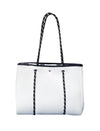 AVA REVERSIBLE NEOPRENE BAG - WHITE/LEOPARD