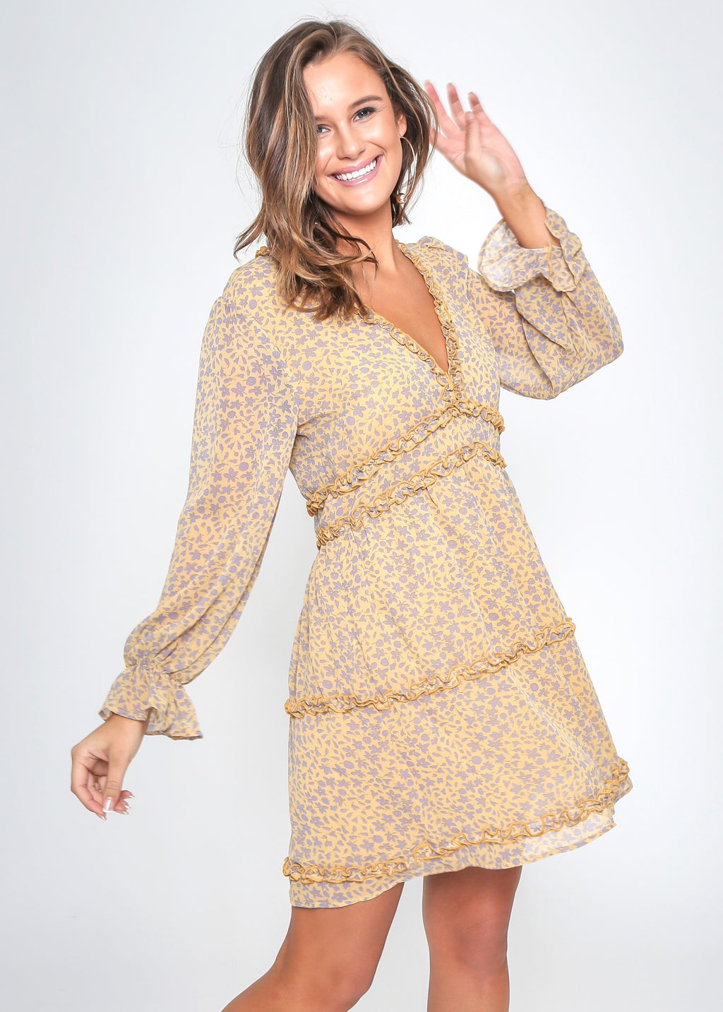 BONNIE DRESS - GOLDEN FLORAL