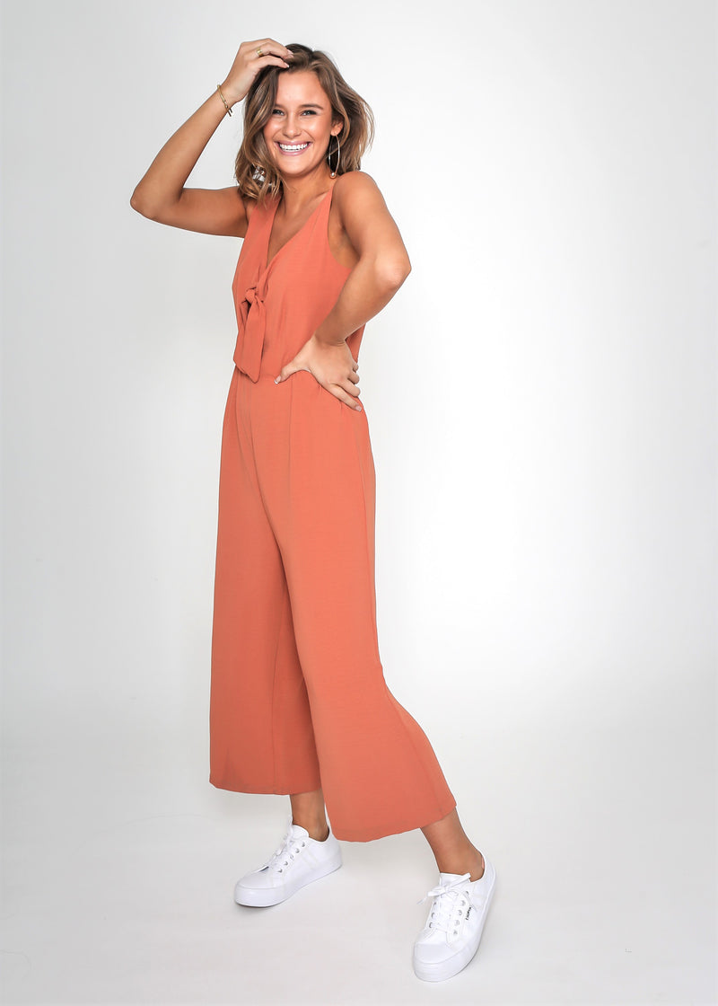 SASHA JUMPSUIT - RUST