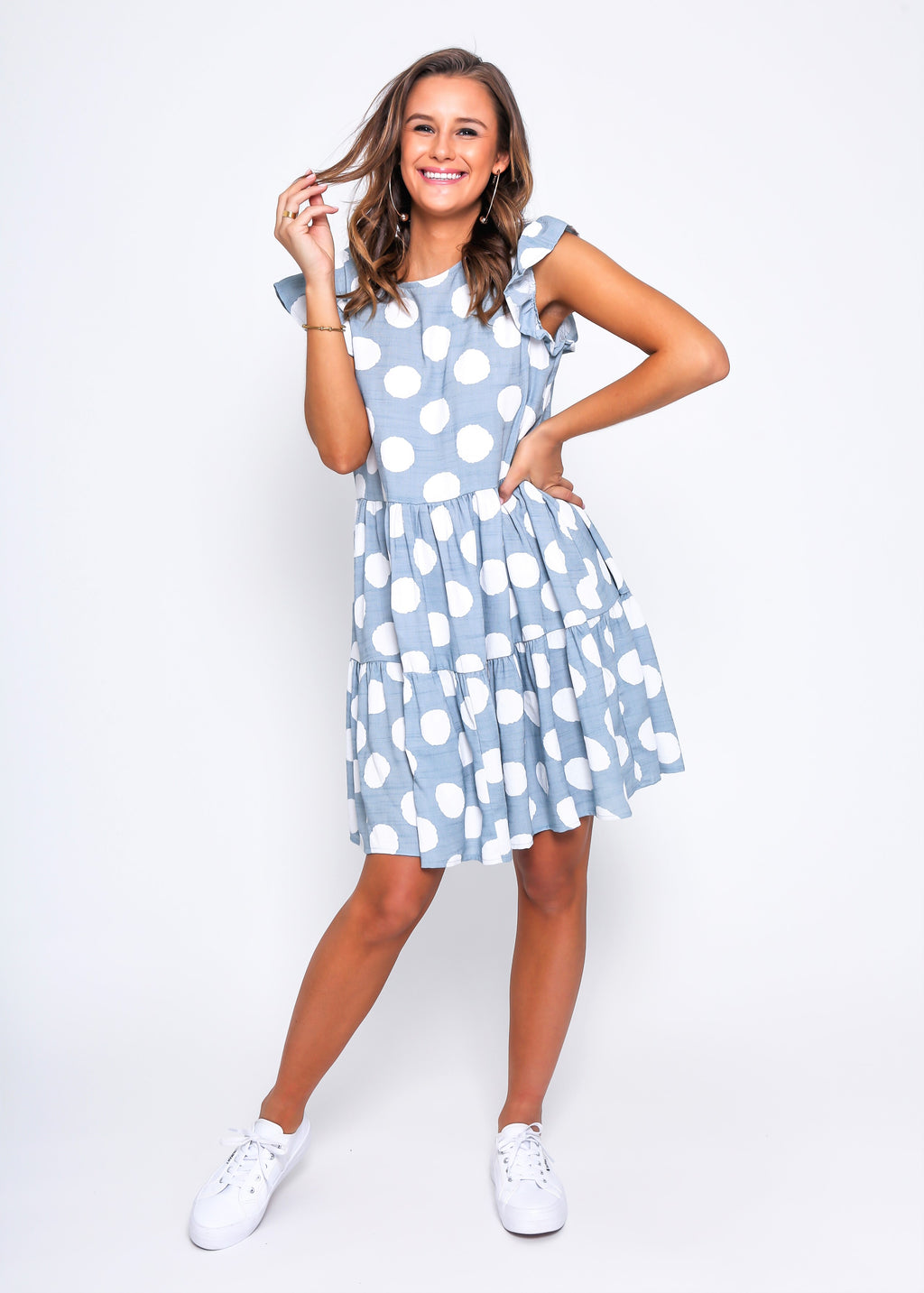 SHANLY DRESS - BLUE DOT
