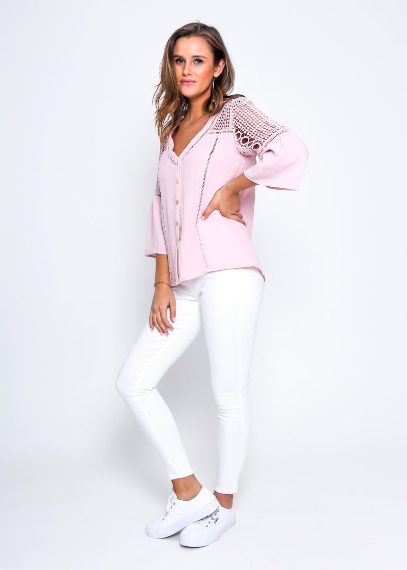 LONA TOP - ROSE