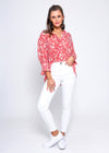 MADELYN TOP - MELON FLORAL