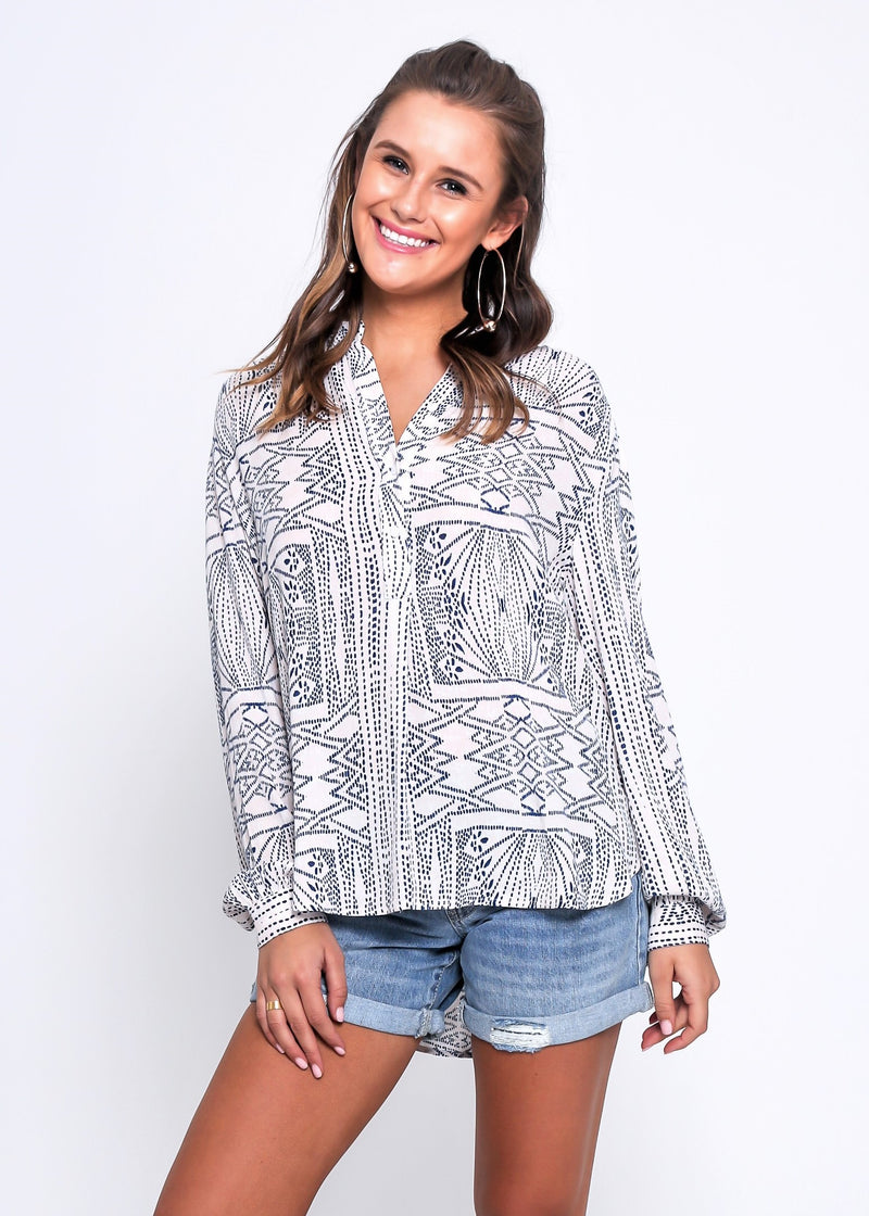 LISA TOP - TRIBE PRINT