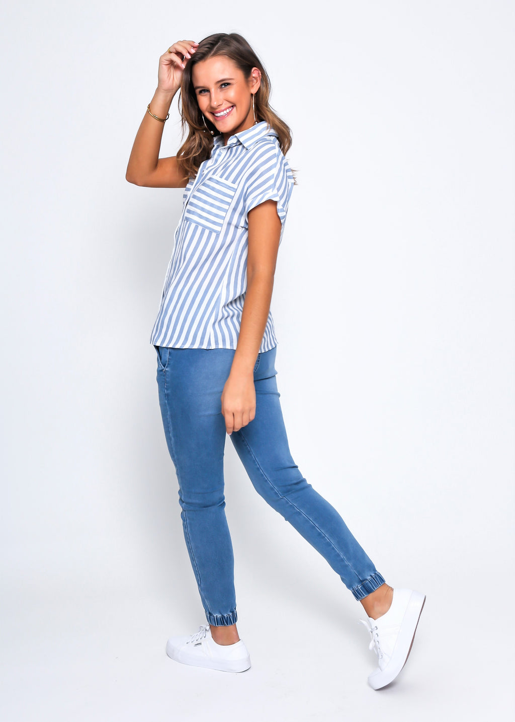 HARMONY SHIRT - BLUE STRIPE