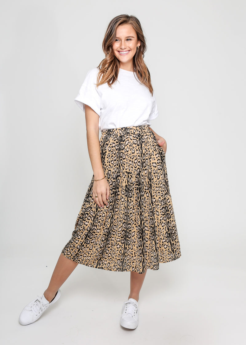 MILLY SKIRT - GOLDEN LEOPARD