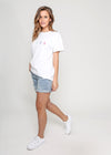MILAN BOX TEE - WHITE