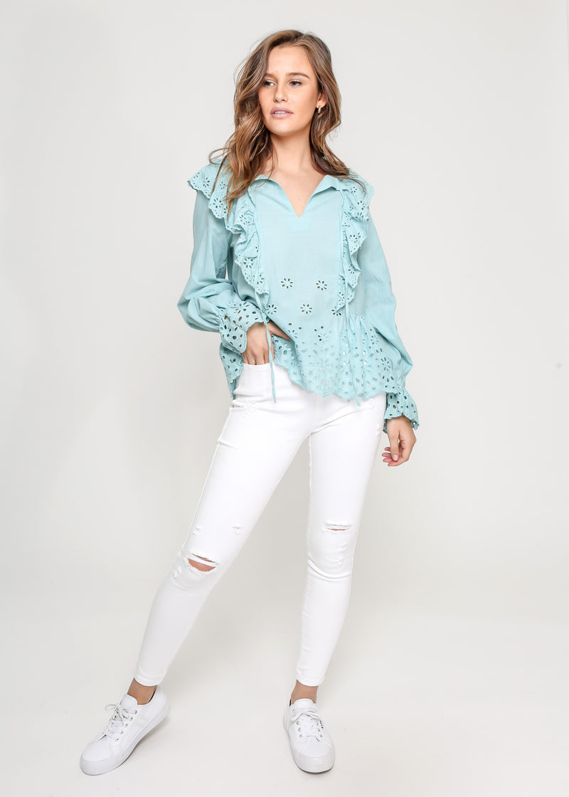NIC TOP - GREEN TEAL