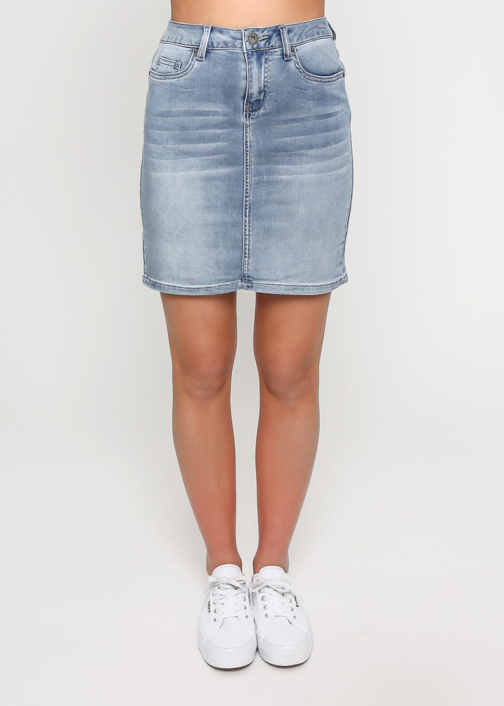 SELENA DENIM SKIRT - LIGHT BLUE