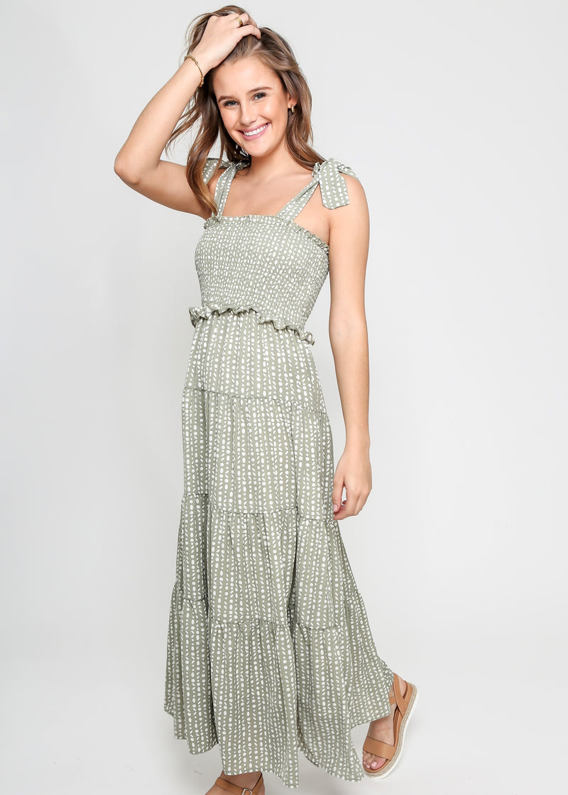 DOLLY DOT DRESS - GREEN DOT