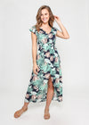 LARA DRESS - PALM LEAVES
