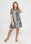 DEMI DRESS - MIXED ANIMAL PRINT