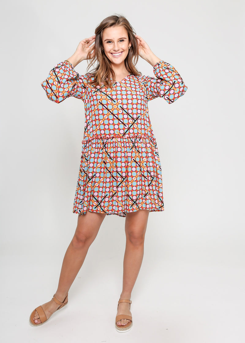 SCARLETT DRESS - 60'S MIX PRINT