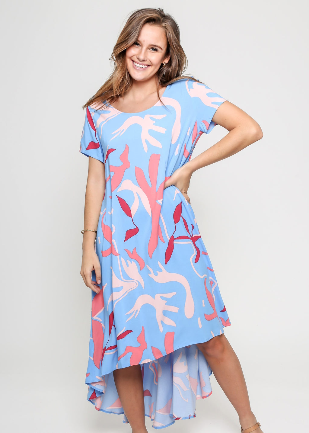 RENEE DRESS - BLUE PRINT