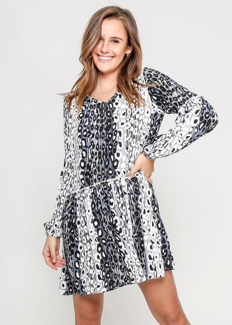 MILA DRESS - LEOPARD PRINT