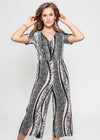 TAYLOR JUMPSUIT - MIXED ANIMAL PRINT