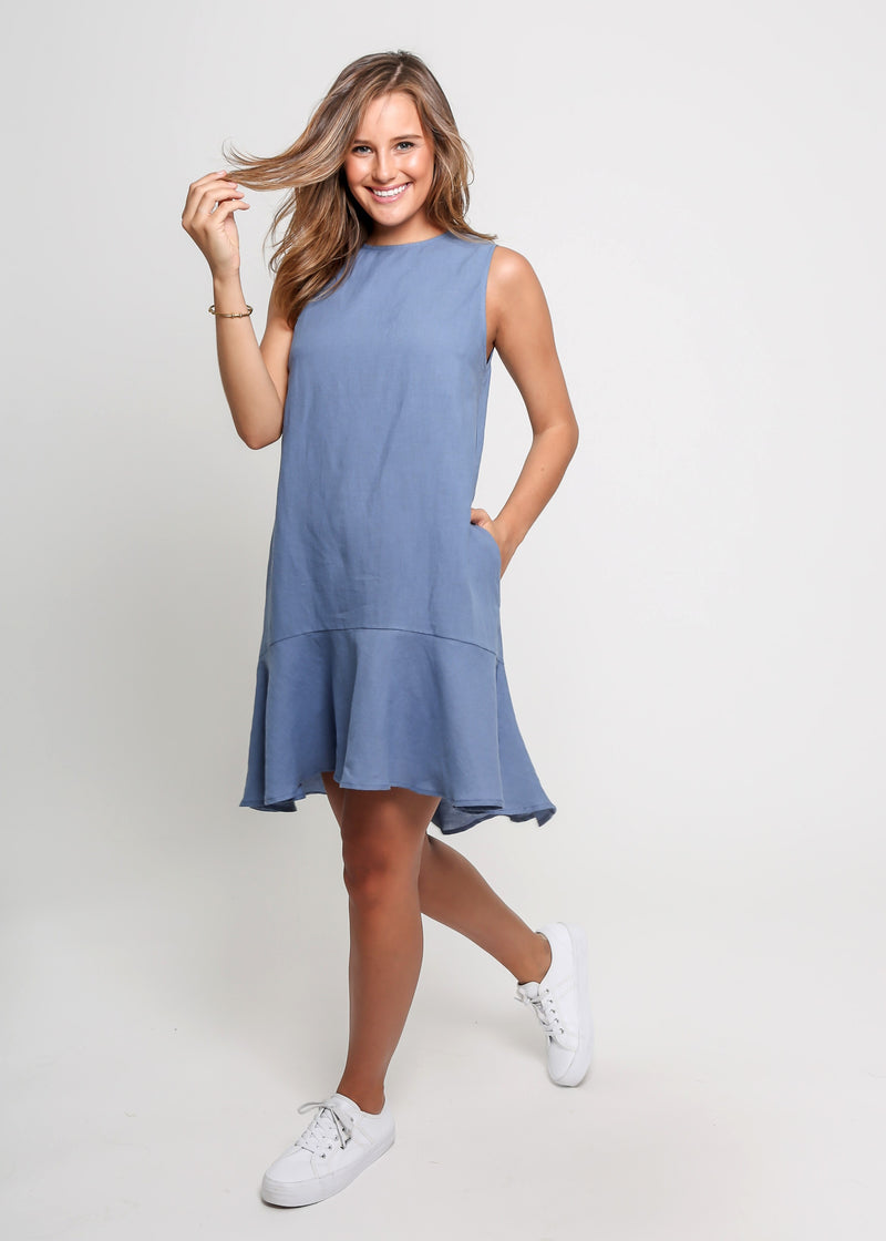 LINA DRESS - BLUE