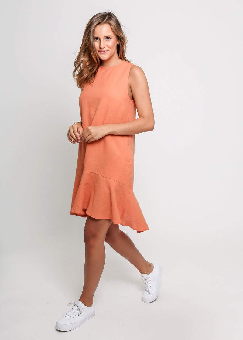 LINA DRESS - ORANGE