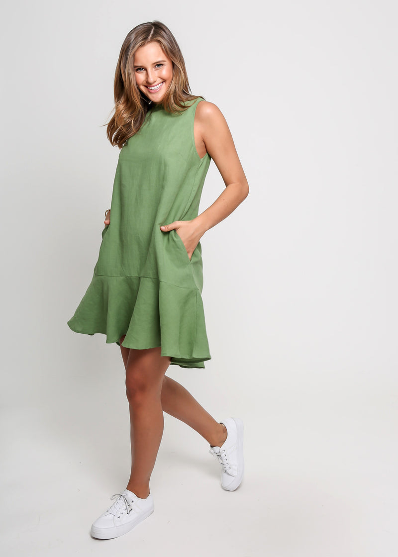 LINA DRESS - GREEN
