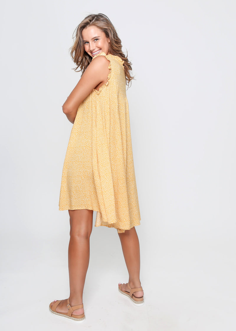 LAYLA DRESS - YELLOW PRINT
