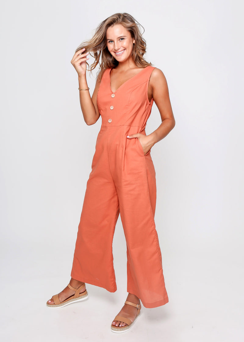 JODI JUMPSUIT - ORANGE