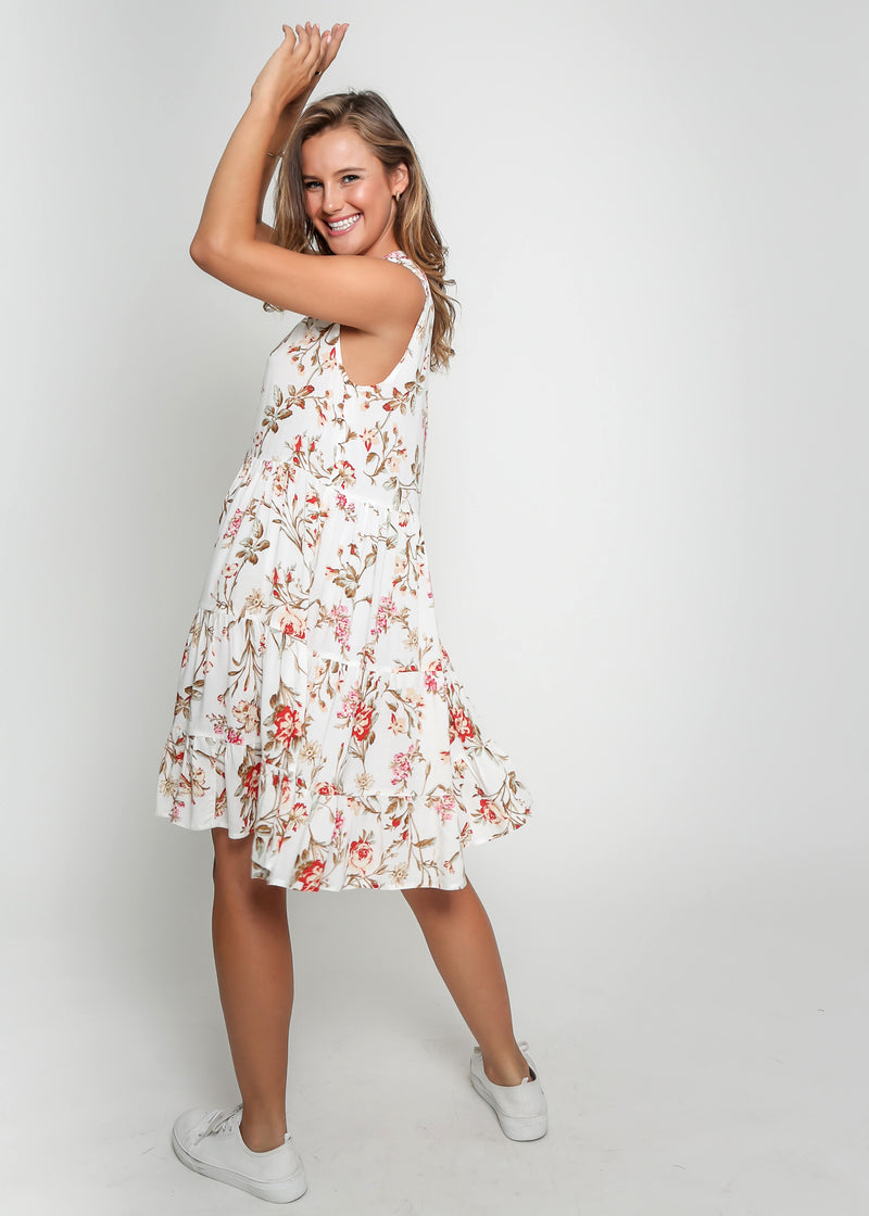 COCO DRESS - WHITE FLORAL