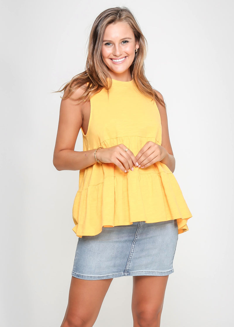 CHELSY TOP - YELLOW