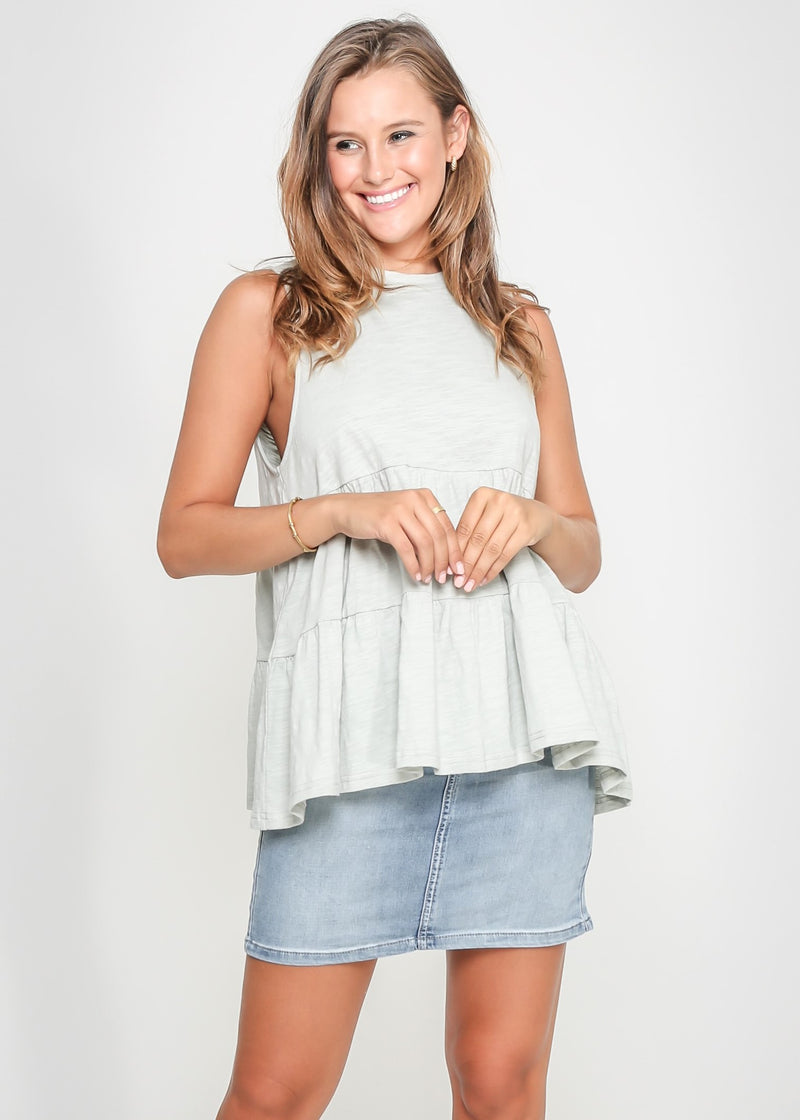 CHELSY TOP - SAGE