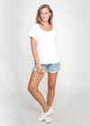 LUBI COTTON TEE - WHITE