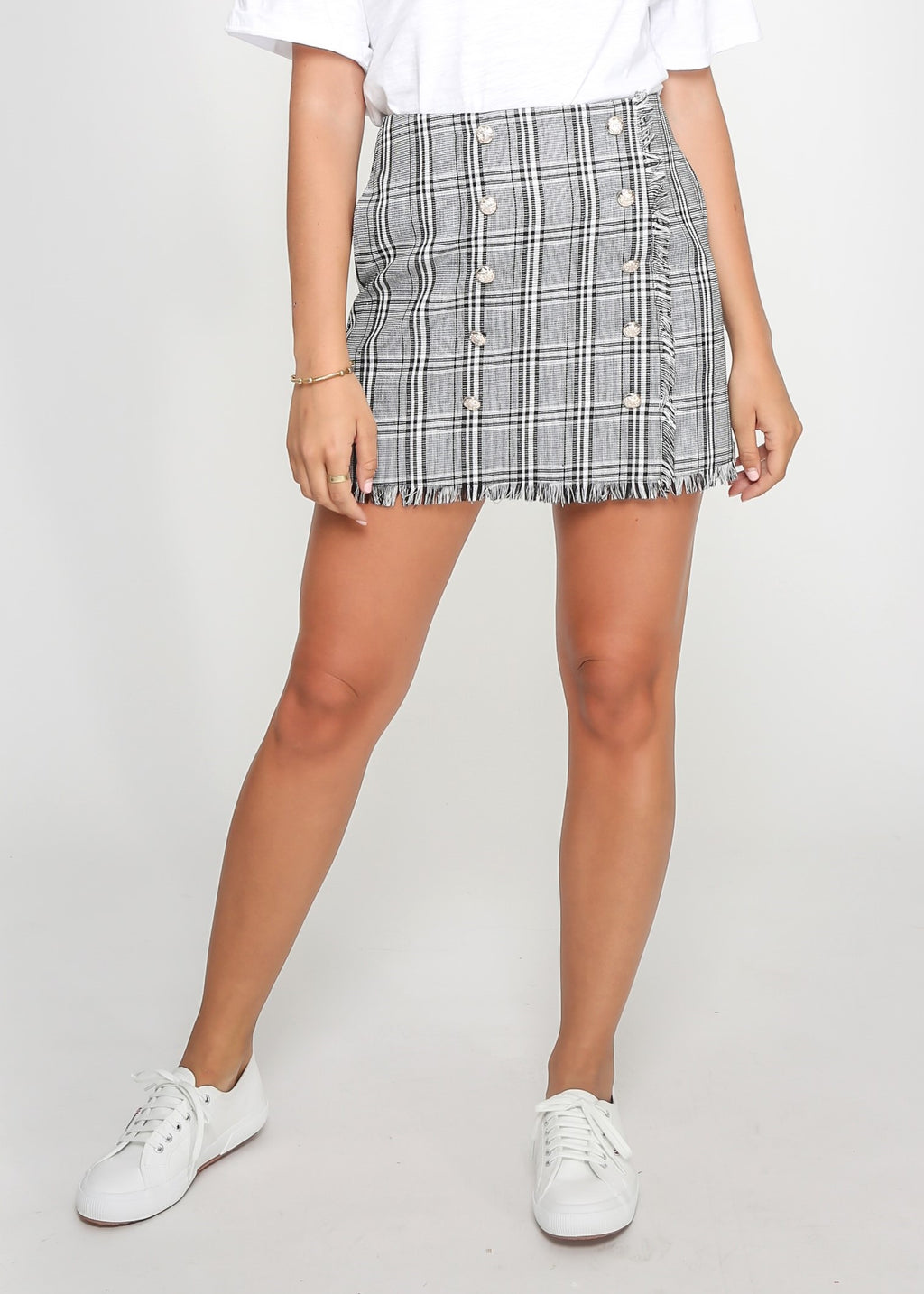 MILLY MINI SKIRT - CHECK PRINT - MARK DOWN MADNESS