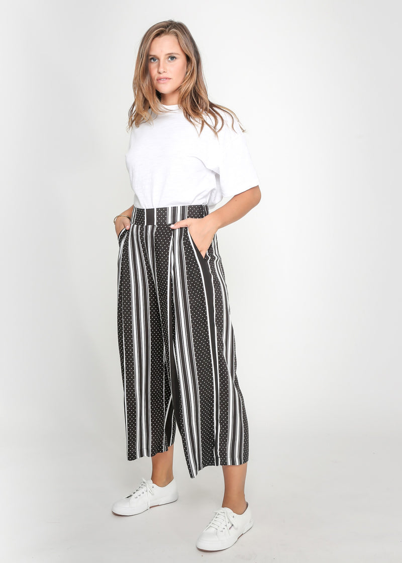 MELLINA CULLOTES - BLACK/WHITE STRIP PRINT