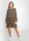 HARLEY DRESS - KHAKI LEOPARD