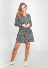 BREE DRESS - BLACK LEOPARD