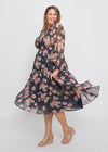 ZAREL DRESS - NAVY FLORAL