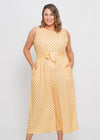 ALSA JUMPSUIT - YELLOW POLKA DOT