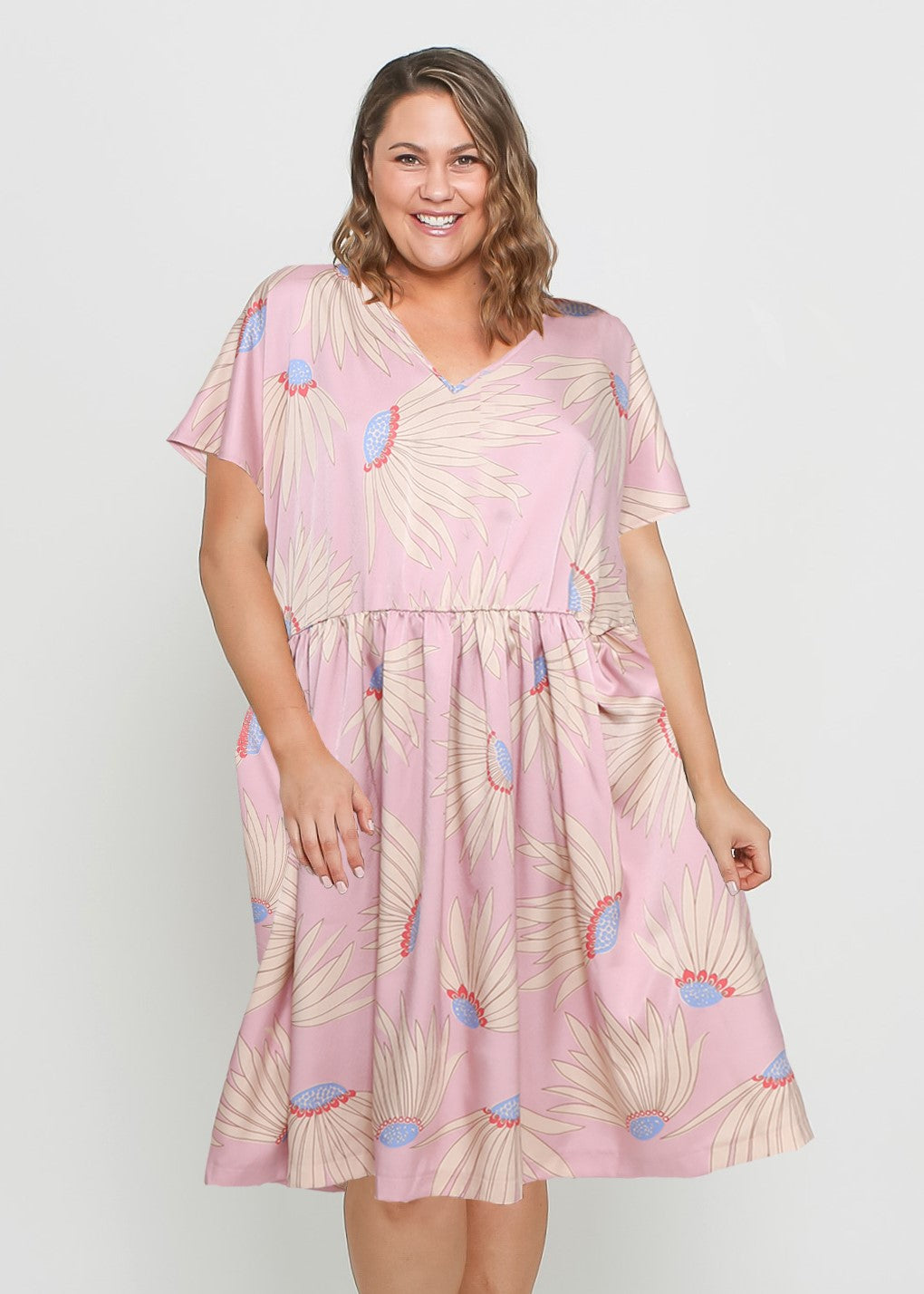 NEW - MAY DRESS - PINK FLORAL